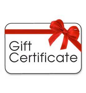 Buy a gift certificate online